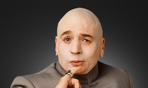 Lance after his shave, looking just like Dr Evil