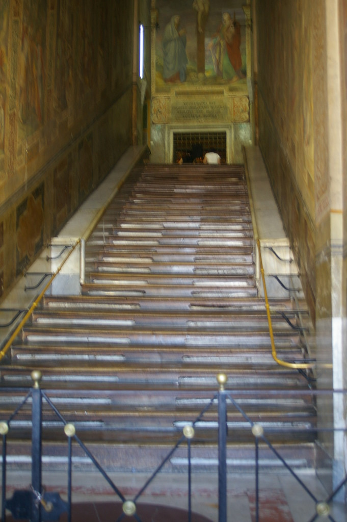 The Scala Santa. I have another picture with people ascending the stairs, but it not showing their best features....