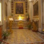The floor from Villa Jovis inside Chiesa San Stefano