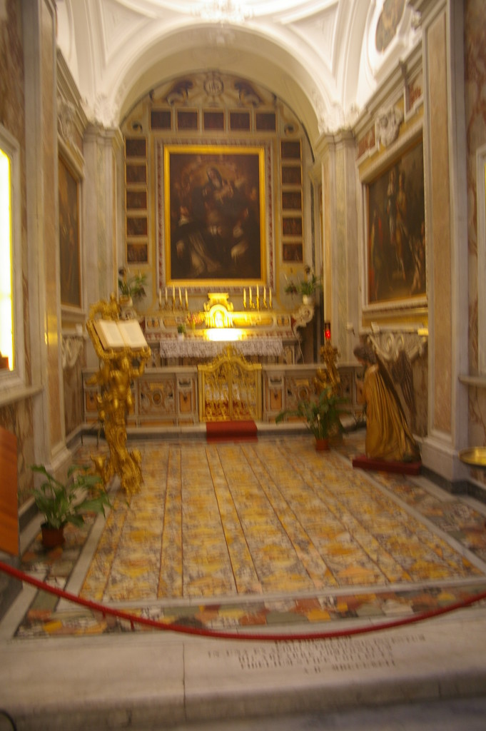 The floor from Villa Jovis inside Chiesa San Stefano