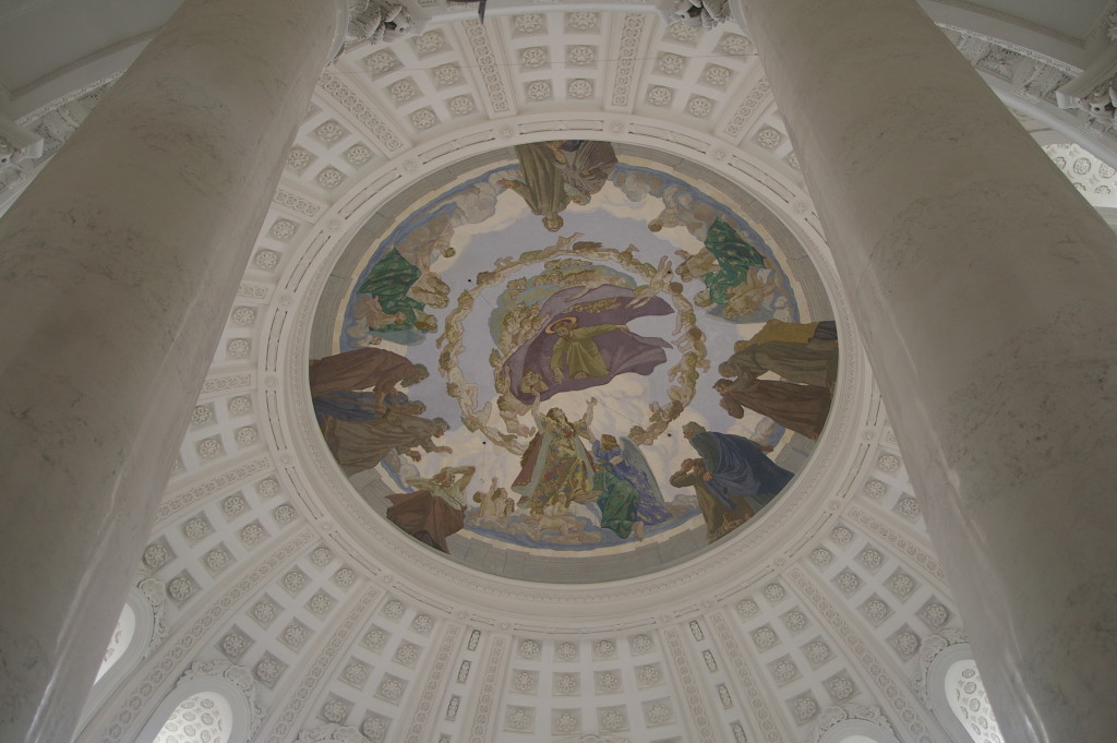 The inside of the dome of St Blaise's